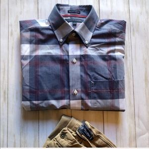 Tommy Hilfiger Plaid Button Up Shirt